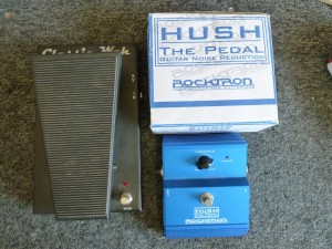Morley Classic Wah $35.00. Rocktron Hush noise reducer $45.00/