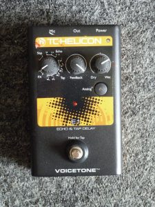 T.C. Helicon Voicetone Echo and Tap Delay. $90.00.