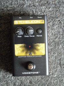 T.C. Helicon Voicetone Adaptive tone and Dynamics pedal. $55.00.