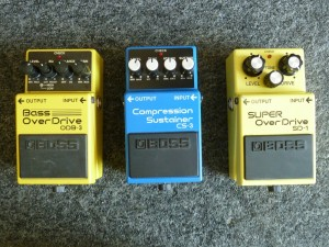 Boss CS-3 $65.00. Boss SD-1 $30.00. Boss ODB-3 $75.00.
